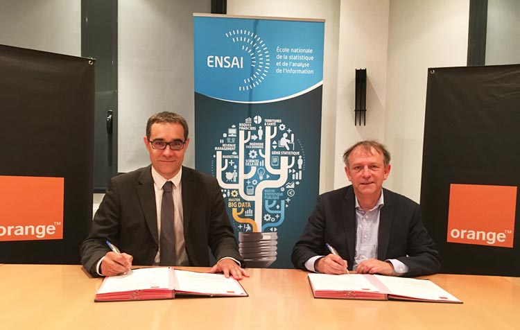 Signature partenariat ENSAI-Orange
